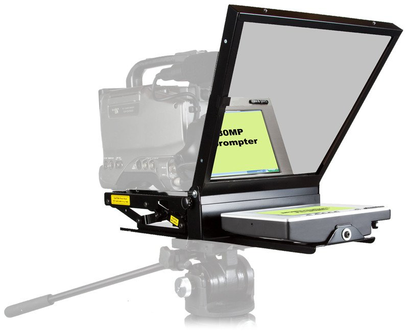 """Mirror Image Teleprompter LC-80MP 8"""" Color Teleprompter with Software LC80MP"""