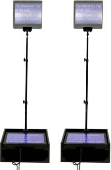 "Dual 19"" LCD Teleprompters (for Public Speakers, with Dist. Amp & EZPrompt)"