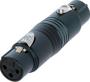 3-Pin XLR-F to 3-Pin XLR-F Wired Adapter (Black)