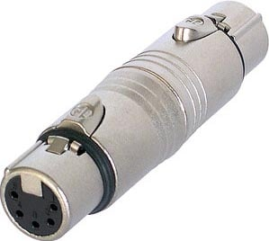 5-Pin XLR-F to XLR-F Wired Gender Adapter
