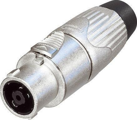 STX Series 8-Pin Female Speakon Cable Connector (Nickel Housing, Chuck Type Strain Relief)
