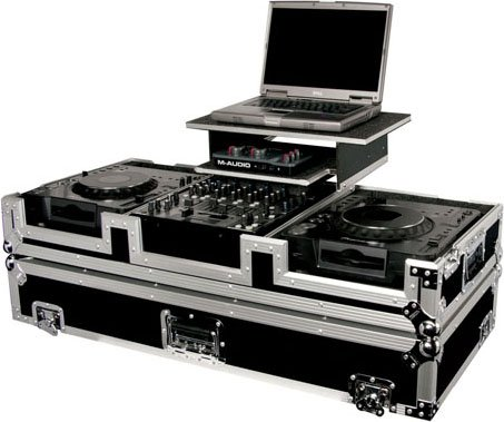 Glide-Style DJ Coffin Case (with Wheels & Sliding Laptop Tray)