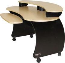 A/V Desk with Riser in Black