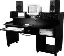 ProStation Jr. Audio/Video Workstation Desk (Total 14-Space Rackmounting)