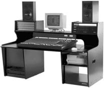 Workstation with 26 Total Rack Spaces (for 8-Bus Mixer/Keyboard Composing, Editing)
