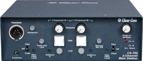 Clear-Com CS702 2 Channel Main Intercom Station CS702