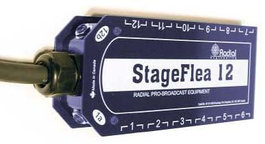 Snake, 25 ft Stage Flea Stage Box, XLR-M splay