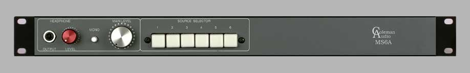 6 input Switcher & Monitor Controller