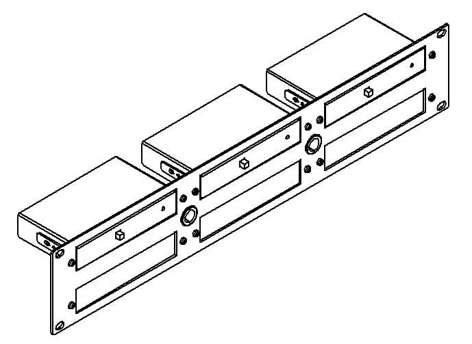 "19"" 2RU Rack Adapter For 6 TOOLS™"
