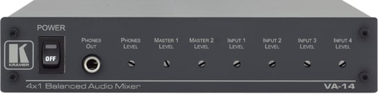 4-Channel Balanced Audio Mixer
