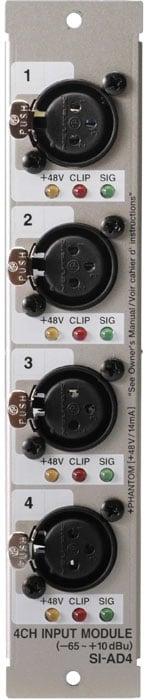 Analog Input Card 4-Ch. XLR In