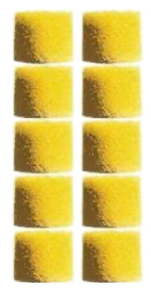100 Yellow Foam Sleeves for In-Ear Headphones