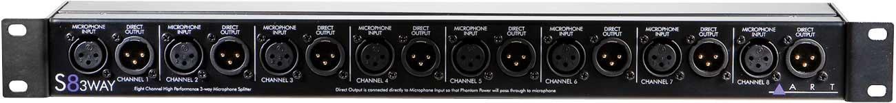 3-Way Mic Splitter, 8 Channel