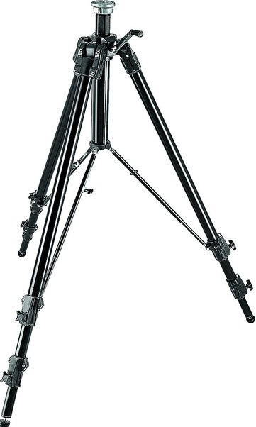 Heavy Duty Aluminum Super Pro Tripod (with Geared Column, 8.76 ft. H)