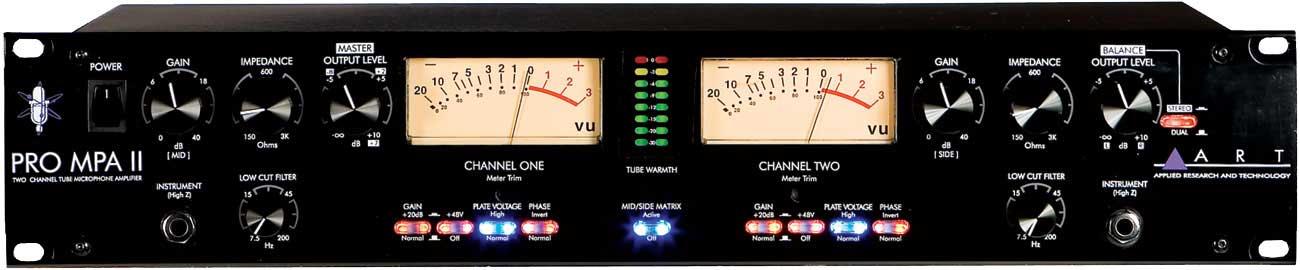 ART PRO-MPA-II  Tube Mic Preamp, 2 Channel PRO-MPA-II