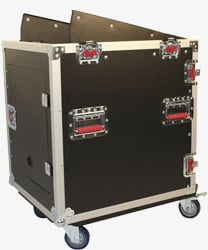 G-Tour Series Fixed Top Rack Case (with 12 RU on Top, 12 RU on Bottom)