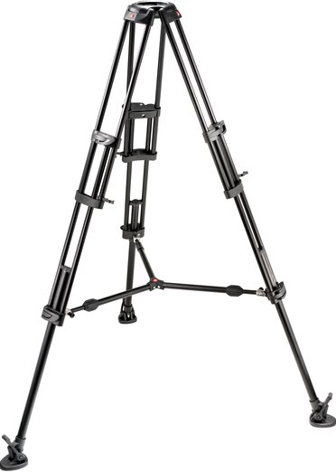 2-Stage Pro Aluminum Video Tripod (Braced Legs, Mid-Level Spreader, No Center Column, 100/75mm Bowl)