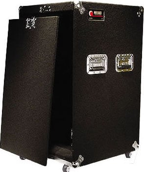 Amp Rack 18sp w/Casters Black
