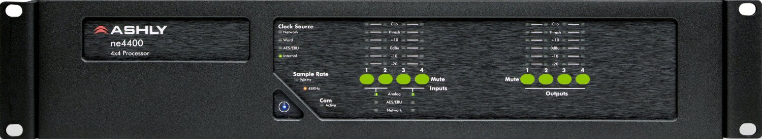 4-Channel Mic/Line Input Network Audio Processor with Software Controllable Gain & Phantom Power