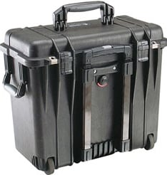 Toploader Case with Padded Divider & Lid Organizer