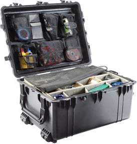 Large Transport Case with Wheels WITHOUT Foam Interior