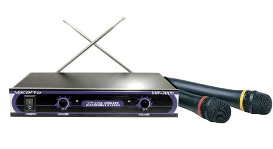 Dual-Channel Wireless System with 2 Handheld Microphones