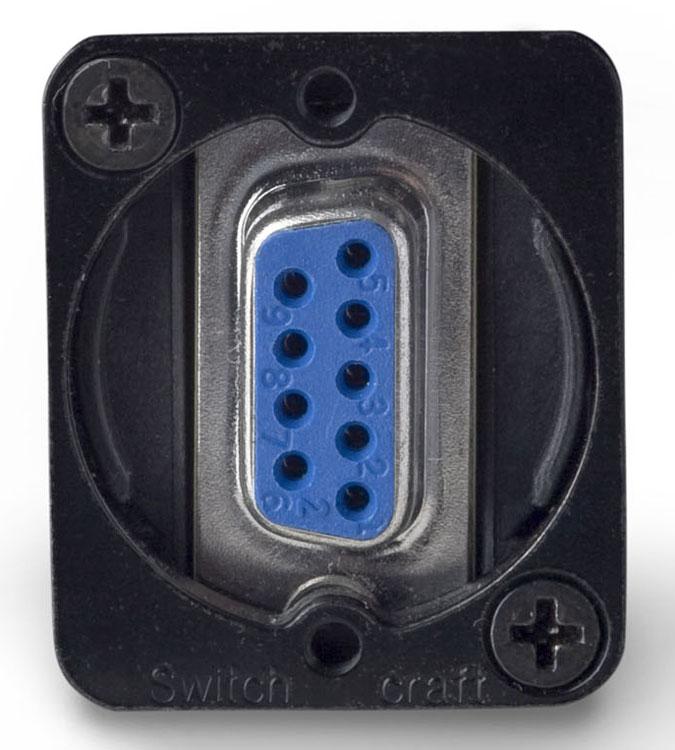 9-Pin F-F Black