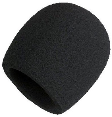 Black Foam Windscreen for Larger Ball-Type Microphones