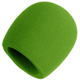 Green Foam Windscreen for Larger Ball-Type Microphones