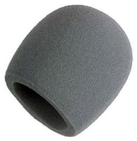 Grey Foam Windscreen for Large Ball-Type Microphones