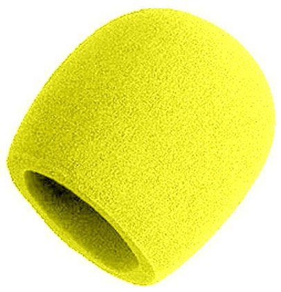 Yellow Foam Windscreen for Larger Ball-Type Microphones