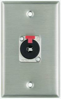 "Plateworks Single-Gang Stainless Steel Wall Plate with 1x Neutrik NJ3FP6 Locking 1/4"" TRS Jack"