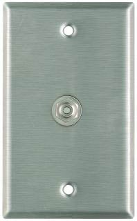 Plateworks Single-Gang Stainless Steel Wall Plate with 1x RCA Jack