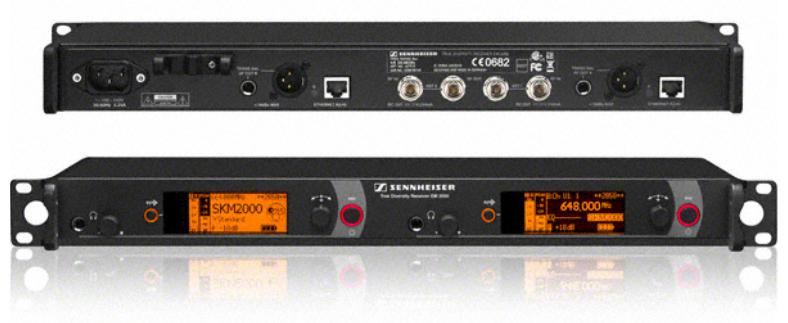 Rackmount 2-Channel True Diversity UHF Wireless Receiver