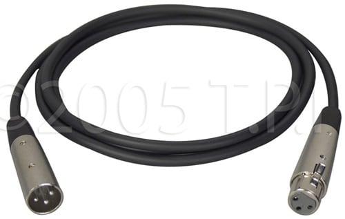 XLR Male-XLR Female Cable 10ft