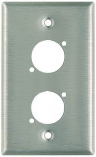 Plateworks Single-Gang Stainless Steel Wall Plate with 2x D-Series Punchouts