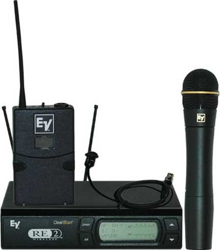Wireless Microphone Combo System with Bodypack & Handheld Transmitters