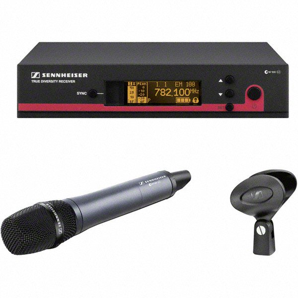 Wireless Handheld Microphone System with the e835 Transmitter