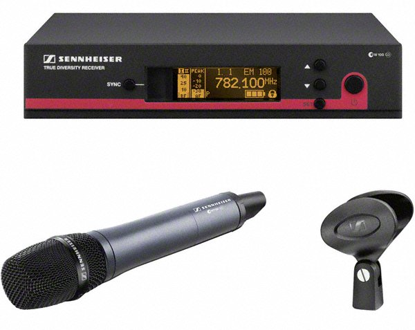 Wireless Handheld Microphone System with the e865 Transmitter