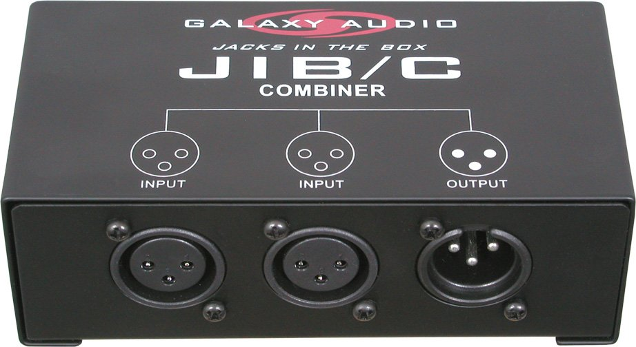 Mic Combiner (XLR 2 to 1)