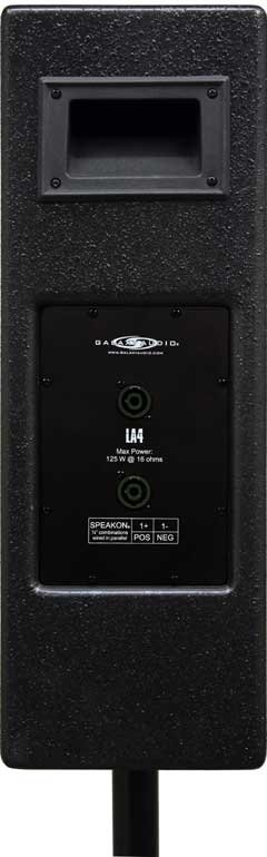 "4 x 4.5"" 125W Line Array Speakers in Black"