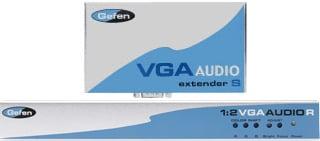 1:2 VGA/Audio Over CAT5 Extender