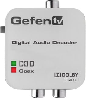 GefenTV Digital Audio Decoder - Dolby Digital Surround to RCA L/R Analog