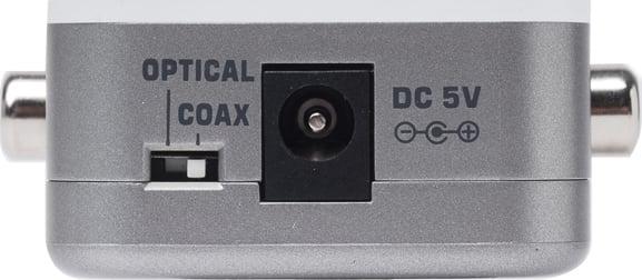 Audio Digital S/PDIF to Analog RCA L/R Audio Converter