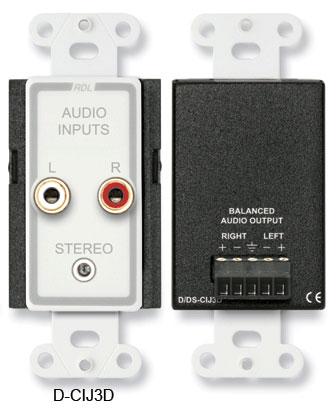 Consumer Input Jacks, Stereo, RCA