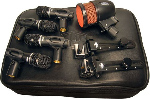 5-Piece Drum Microphones Kit (4x Handi Mic Pro Plus, 1x PR48)