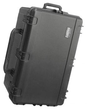 "Mil-Std Waterproof Case 14"" Deep with Cubed Foam, Wheels & Handle"