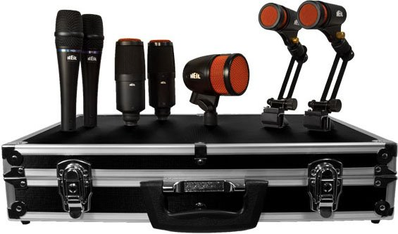 7-Piece Drum Microphones Kit (2x PR 22, 2x PR 28, 2x PR 30B, 1x PR 48)