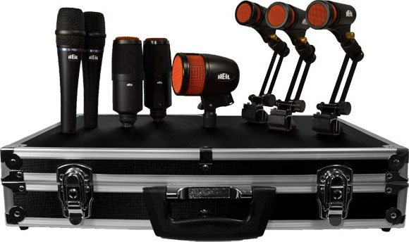 8-Piece Drum Microphones Kit