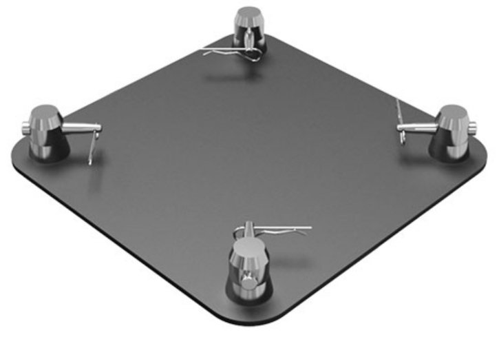 "Global Truss SQ-4137 BLK 12"" x 12"" Matte Black Aluminum Base Plate for F34 Square Truss SQ4137-BLK"